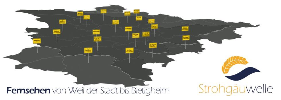 Strohgäuwelle - Fernsehen von Weil der Stadt bis Bietigheim